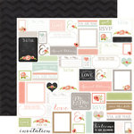 Carta Bella - Rustic Elegance Collection - 12 x 12 Double Sided Paper - Labels