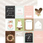 Carta Bella - Rustic Elegance Collection - 12 x 12 Double Sided Paper - 3 x 4 Journaling Cards