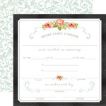 Carta Bella - Rustic Elegance Collection - 12 x 12 Double Sided Paper - Certificate