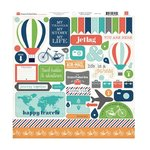 Carta Bella - Travel Stories Collection - 12 x 12 Cardstock Stickers
