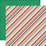 Echo Park - Christmas Cheer Collection - 12 x 12 Double Sided Paper - Festive Stripes