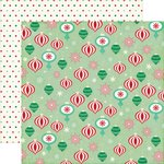 Echo Park - Christmas Cheer Collection - 12 x 12 Double Sided Paper - Christmas Ornaments