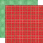 Echo Park - Christmas Cheer Collection - 12 x 12 Double Sided Paper - Holiday Plaid