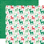 Echo Park - Christmas Cheer Collection - 12 x 12 Double Sided Paper - Rudolph