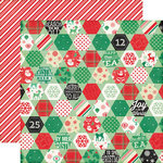 Echo Park - Christmas Cheer Collection - 12 x 12 Double Sided Paper - Cozy Quilt