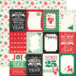 Echo Park - Christmas Cheer Collection - 12 x 12 Double Sided Paper - 3 x 4 Journaling Cards