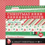 Echo Park - Christmas Cheer Collection - 12 x 12 Double Sided Paper - Border Strips