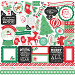 Echo Park - Christmas Cheer Collection - 12 x 12 Cardstock Stickers - Element Stickers