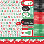 Echo Park - Christmas Cheer Collection - 12 x 12 Cardstock Stickers - Alpha Stickers
