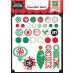 Echo Park - Christmas Cheer Collection - Decorative Brads