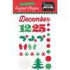 Echo Park - Christmas Cheer Collection - Enamel Shapes