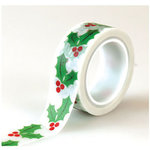 Echo Park - Christmas Cheer Collection - Decorative Tape - Holly Berries