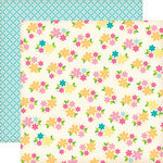Echo Park - Country Drive Collection - 12 x 12 Double Sided Paper - Daisy Field