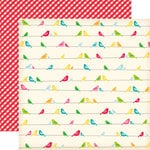 Echo Park - Country Drive Collection - 12 x 12 Double Sided Paper - Birds on a Wire