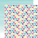 Echo Park - Capture Life Collection - 12 x 12 Double Sided Paper - Hearts