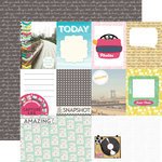 Echo Park - Capture Life Collection - 12 x 12 Double Sided Paper - Journaling Cards