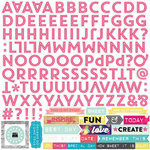 Echo Park - Capture Life Collection - 12 x 12 Cardstock Stickers - Alphabet