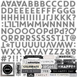 Echo Park - Capture Life Collection - Black and White - 12 x 12 Cardstock Stickers - Alphabet