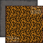 Echo Park - Chillingsworth Manor Collection - Halloween - 12 x 12 Double Sided Paper - Orange Floral
