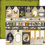 Echo Park - Chillingsworth Manor Collection - Halloween - 12 x 12 Double Sided Paper - Apothecary Labels