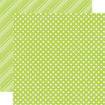 Echo Park - Dots and Stripes Collection - Spring - 12 x 12 Double Sided Paper - Mint