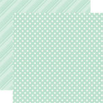 Echo Park - Dots and Stripes Collection - Spring - 12 x 12 Double Sided Paper - Robin's Egg