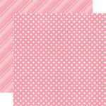 Echo Park - Dots and Stripes Collection - Spring - 12 x 12 Double Sided Paper - Bubblegum