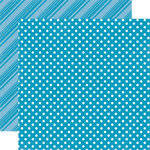 Echo Park - Dots and Stripes Collection - Summer - 12 x 12 Double Sided Paper - Pool
