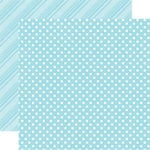 Echo Park - Dots and Stripes Collection - Summer - 12 x 12 Double Sided Paper - Sky