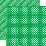 Echo Park - Dots and Stripes Collection - Summer - 12 x 12 Double Sided Paper - Grass