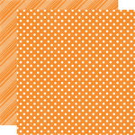 Echo Park - Dots and Stripes Collection - Summer - 12 x 12 Double Sided Paper - Orange