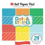 Echo Park - Dots and Stripes Collection - Summer - 8 x 8 Paper Pad