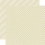 Echo Park - Dots and Stripes Collection - Neutrals - 12 x 12 Double Sided Paper - Caramel