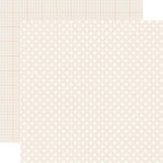 Echo Park - Dots and Stripes Collection - Neutrals - 12 x 12 Double Sided Paper - Cream
