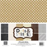 Echo Park - Dots and Stripes Collection - Neutrals - 12 x 12 Collection Kit