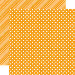 Echo Park - Dots and Stripes Collection - Brights - 12 x 12 Double Sided Paper - Tangerine
