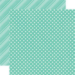 Echo Park - Dots and Stripes Collection - Brights - 12 x 12 Double Sided Paper - Teal
