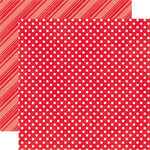 Echo Park - Dots and Stripes Collection - Brights - 12 x 12 Double Sided Paper - Ladybug