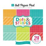 Echo Park - Dots and Stripes Collection - Brights - 8 x 8 Paper Pad