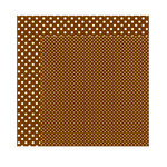 Echo Park - Dots and Stripes Collection - Fall - 12 x 12 Double Sided Paper - Walnut