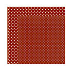 Echo Park - Dots and Stripes Collection - Fall - 12 x 12 Double Sided Paper - Brick