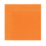 Echo Park - Dots and Stripes Collection - Fall - 12 x 12 Double Sided Paper - Pumpkin