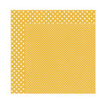 Echo Park - Dots and Stripes Collection - Fall - 12 x 12 Double Sided Paper - Mustard