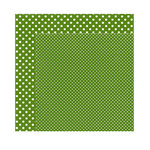 Echo Park - Dots and Stripes Collection - Fall - 12 x 12 Double Sided Paper - Leaf