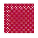 Echo Park - Dots and Stripes Collection - Christmas - 12 x 12 Double Sided Paper - Crimson