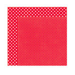 Echo Park - Dots and Stripes Collection - Christmas - 12 x 12 Double Sided Paper - Berry Red
