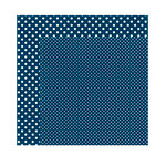Echo Park - Dots and Stripes Collection - Winter - 12 x 12 Double Sided Paper - Navy