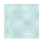 Echo Park - Dots and Stripes Collection - Winter - 12 x 12 Double Sided Paper - Powder Blue