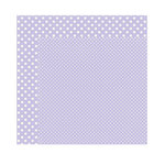 Echo Park - Dots and Stripes Collection - Winter - 12 x 12 Double Sided Paper - Frosted Amethyst