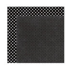 Echo Park - Dots and Stripes Collection - Valentine - 12 x 12 Double Sided Paper - Black